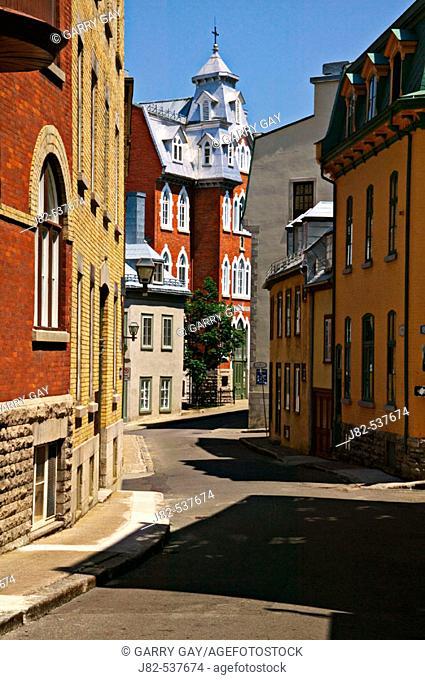 Street in old Quebec city