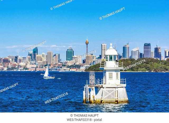 Australia, New South Wales, Sydney, cityview and lighthouse