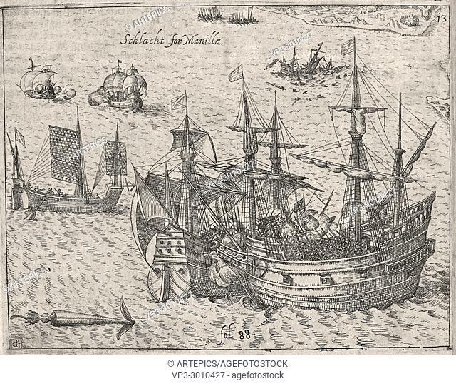 Theodor de Bry - Battle for Manille