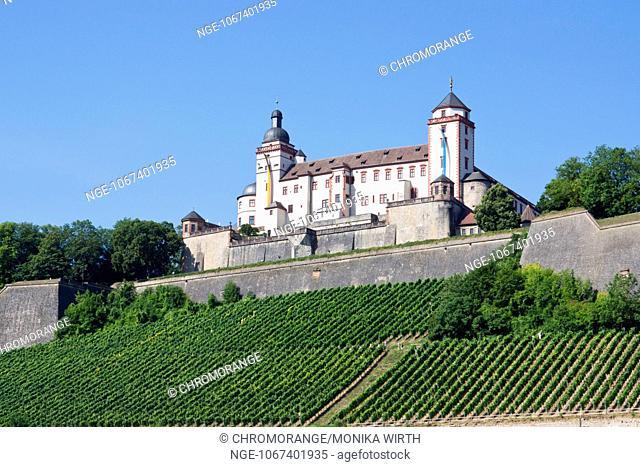 Fortress Marienberg, Wuerzburg, Franconia, Bavaria, Germany, Europe