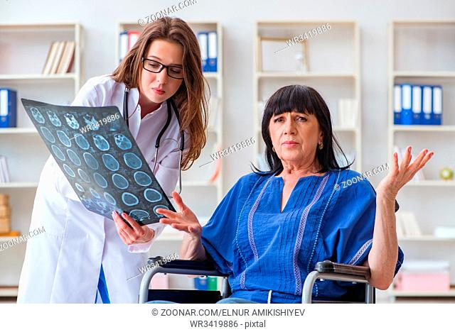Senior woman visiting doctor for regular check-up