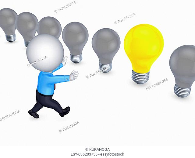 Success concept.Isolated on white background.3d rendered