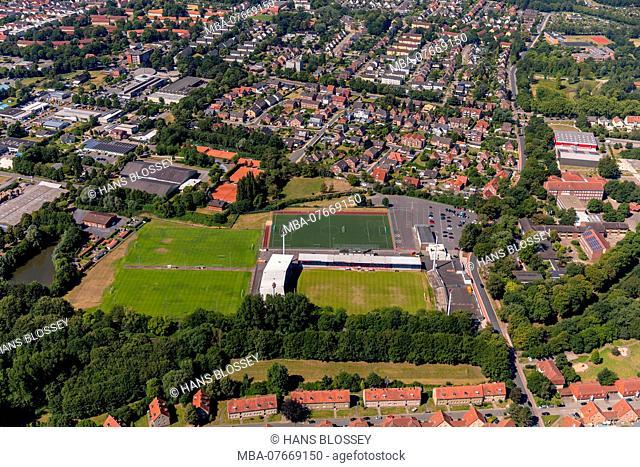 Werse Stadium, Wersestadion, football field, football stadium, ROT WEISS AHLEN e.V., Ahlen, Ruhrgebiet, North Rhine-Westphalia, Germany