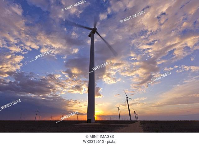 Wind Farm at Sunset