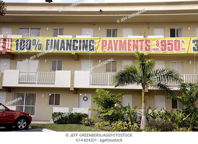 Florida, Miami, building, apartments, condominium, real estate, housing, 100 financing, mortgage, banner, sale, sell, incentive, marketing, payments