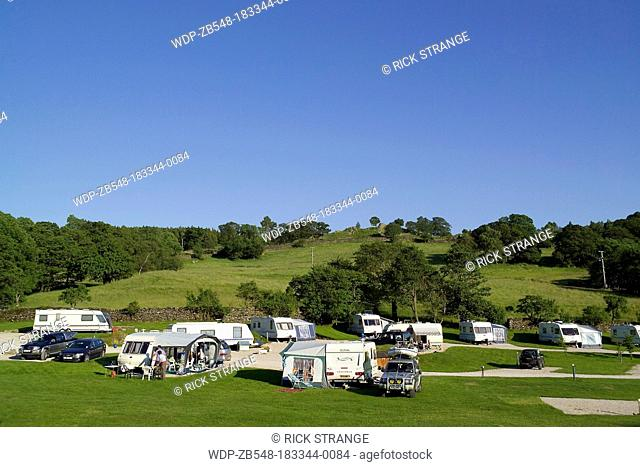 Cliffe Park Camping, Lake Windermere, Lake District, Cumbria, UK