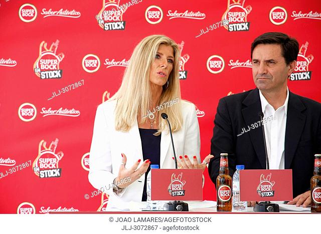 Music: SuperBock em Stock press conference presentation in Skybar Tivoly Hotel at Lisbon, Portugal. Maria Estarreja and Luis Montez
