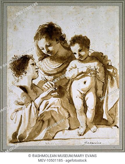 The Mystic Marriage of St Catherine. Giovanni Francesco Barbieri, called Guercino