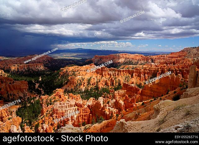 Road trip through USA West Glen far sight in bryce canyon national park