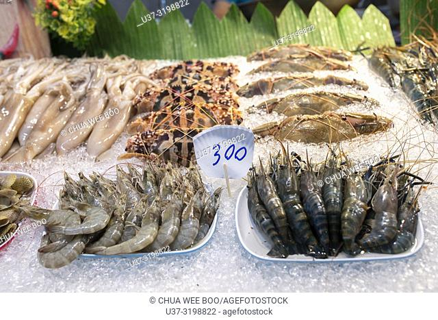 Seafood for sale. Chiang Mai Night Market, Thailand