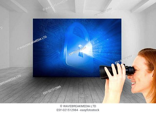 Composite image of charismatic businesswoman predicting future success