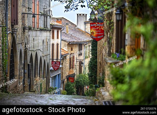 Medieval town of Cordes sur Ciel, labelled The Most Beautiful Villages of France, Tarn, Occitanie, France