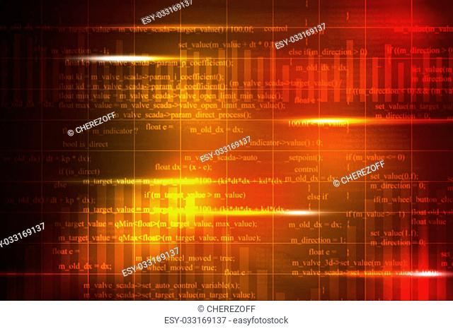 Abstract colorful background with numbers and bright spots