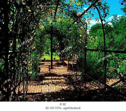 Lodge Park Walled Garden, Co Kildare, Ireland, Rose garden