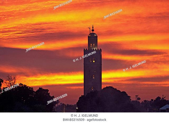 Minaret of the Koutoubia Mosque, Morocco, Marrakesh