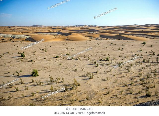 Desert Landscape With Sand Dunes and Sky