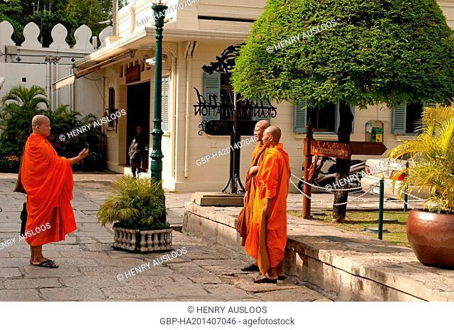 Monks - Bangkok - Thailand, Asia - July, 2012