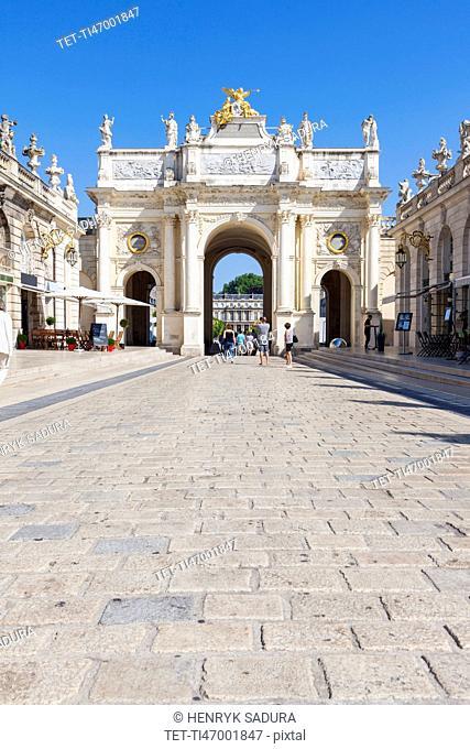 France, Grand Est, Nancy, Here Arch on Place Stanislas