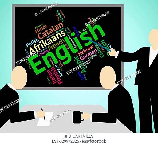 English Language Showing International Translator And Word