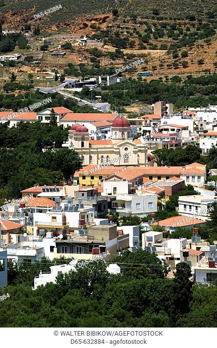 Town view, Neapoli. Lasithi Province. Crete, Greece