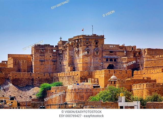 Jaisalmer City Fort in rajasthan state in india