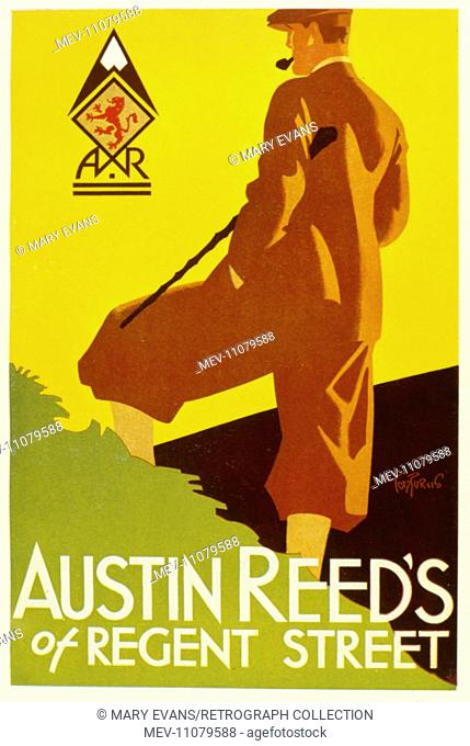 Poster Design By Tom Purvis Austin Reed S Of Regent Street London Stock Photo Picture And Rights Managed Image Pic Mev 11079588 Agefotostock
