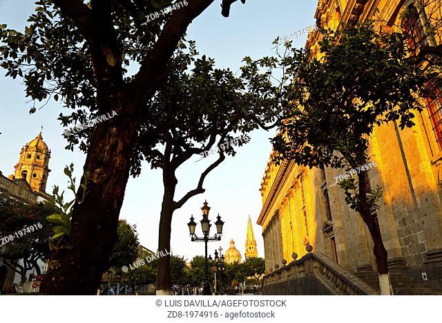 guadalajara.mexico. degollado theatre and cathedral