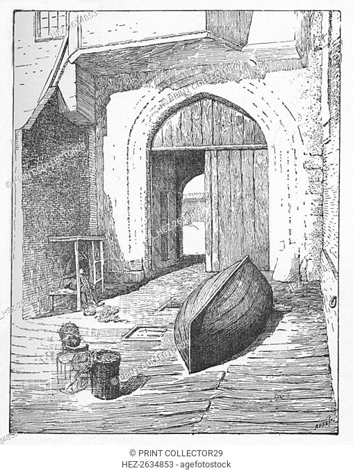 'The Water Gate, New Palace Yard', c1897. Artist: William Patten