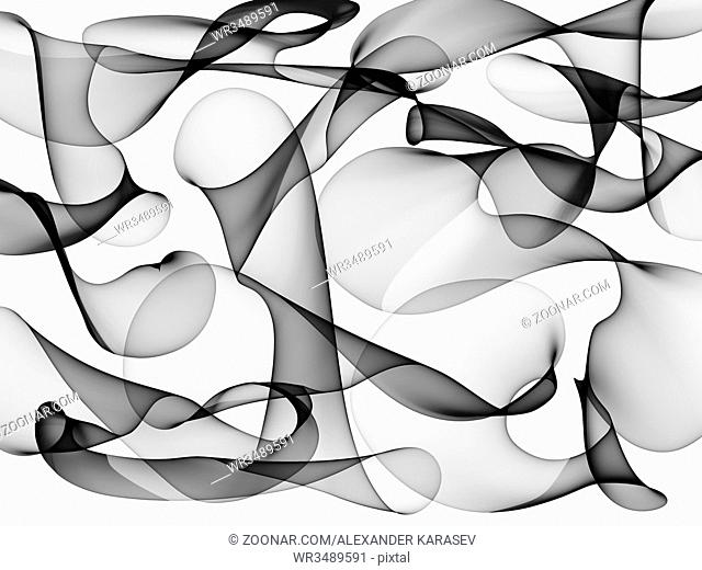 Abstract generated black and white pattern background