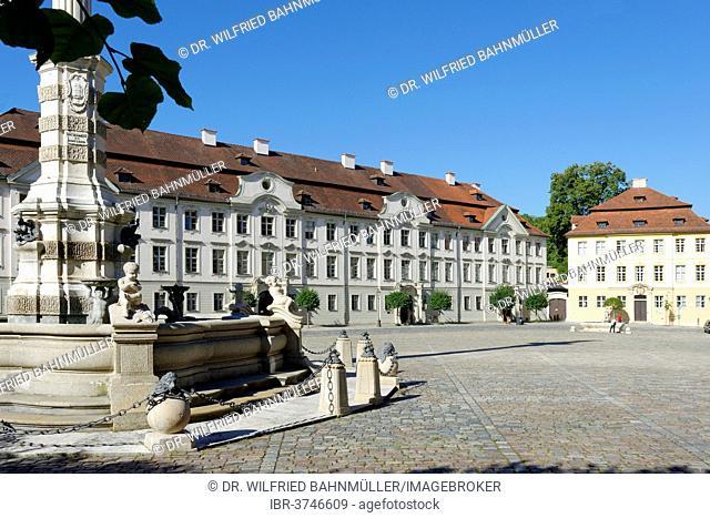 Kavaliershoefe courtyards and the former home of the Vicar General, Residenzplatz square, Altmühltal, Eichstätt, Upper Bavaria, Bavaria, Germany