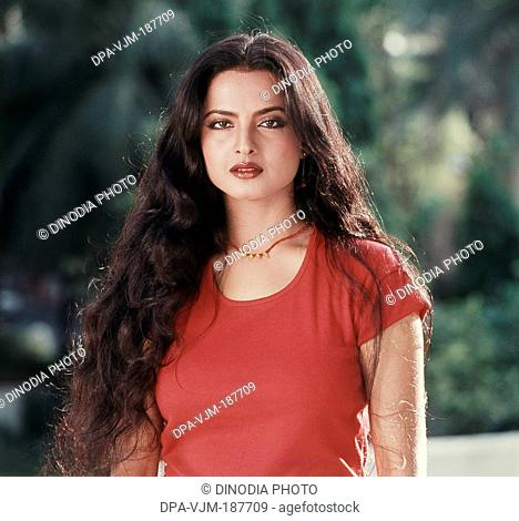 1987, Portrait of Indian film actress Rekha