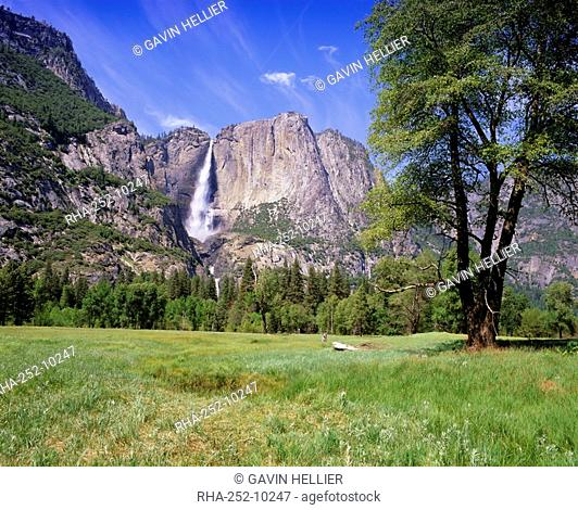 Upper Yosemite Falls, Yosemite National Park, UNESCO World Heritage Site, California, USA, North America