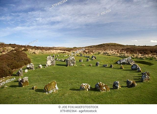 paired Stone circle at Beaghmore Stone Circles County Tyrone Northern Ireland uk