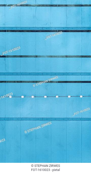 Directly above detail view of swimming pool