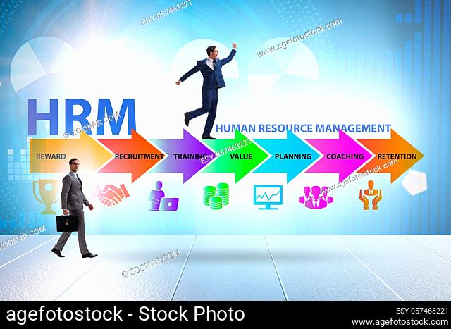 HRM - Human resource management concept with the businessman