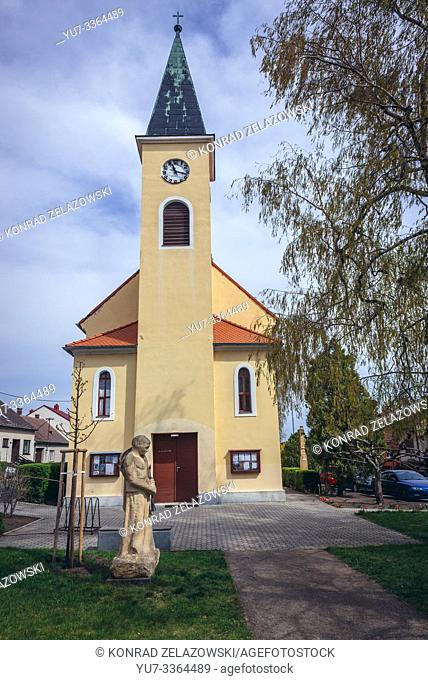 Church of Saints Cyril and Methodius in Luzice, Hodonin District in the South Moravian Region of the Czech Republic