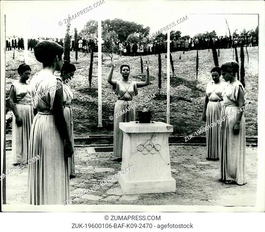 1964 - The Olympic flame is Lit.: At a ceremony in Ancient Olympia, in the presence of Crown Prince Constantine in his capacity as a member of the International...