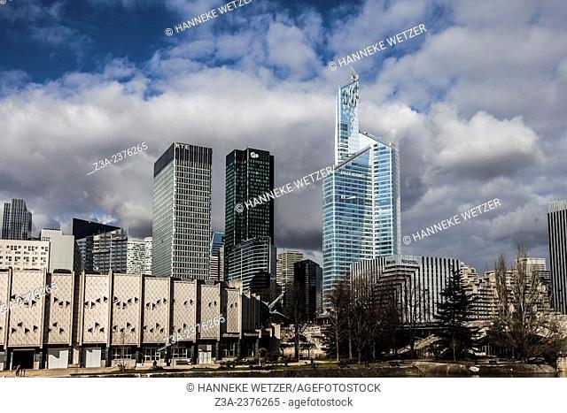 La Defense skyline in Paris, France