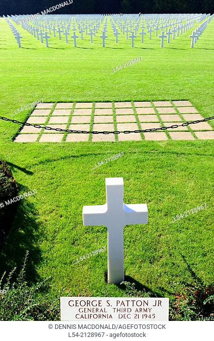 George Patton Grave Luxembourg American Cemetery and Memorial Europe