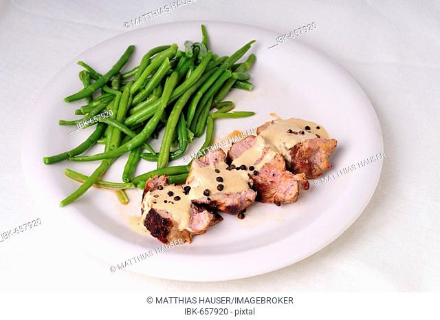 Pork filet with green beans