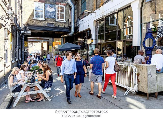 Cafe/Restaurant Off Brick Lane, London, England