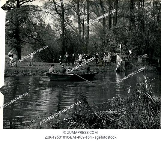 Oct. 10, 1960 - SEARCH FOR MISSING GIRL GUIDE CONTINUES . DRAGGING THE RIVER CRANE.. Hundreds of police - troops and local volunteers spent yesterday searching...
