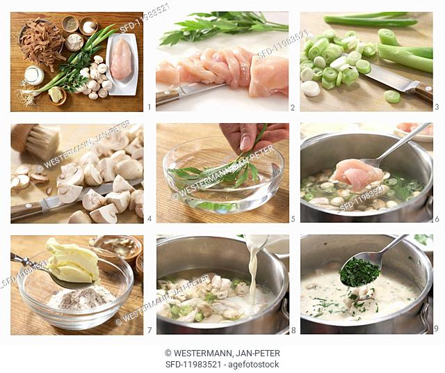 How to prepare quick chicken fricassee with wholemeal pasta