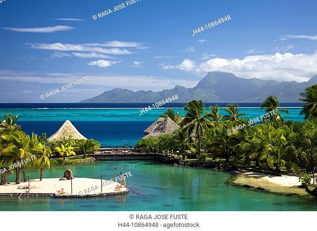 Tahiti, Tahiti Nui Island, Papete City, The Sea, Intercontinental Resort