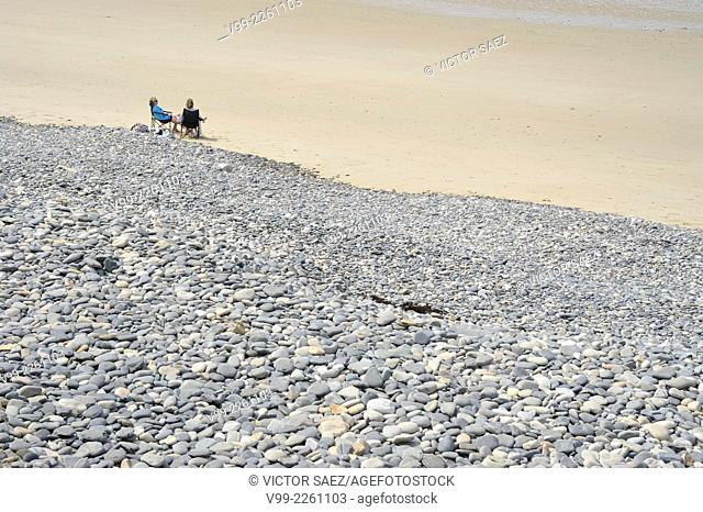 On the beach, Normandy, France