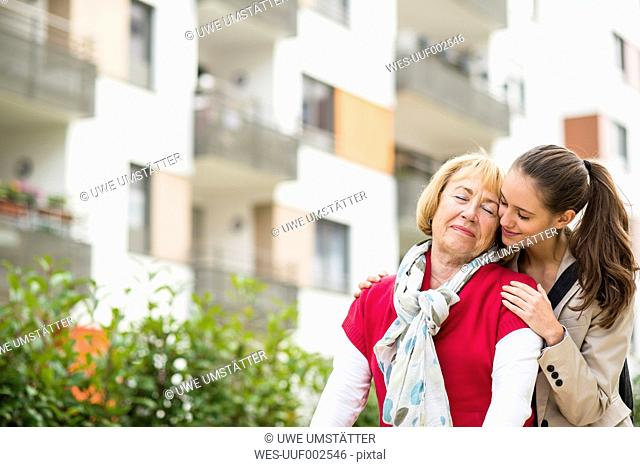 Senior woman enjoying being together with her dranddaughter