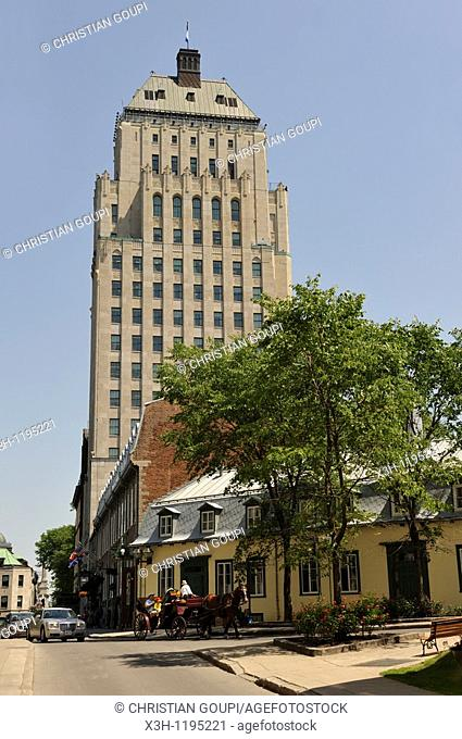 Edifice Price seen from Cook street, Quebec city, Province of Quebec, Canada, North America