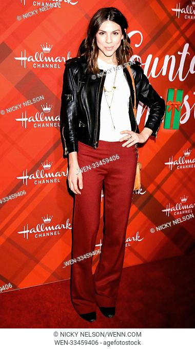 Hallmark's 'Christmas at Holly Lodge' screening at 189 The Grove Drive - Arrivals Featuring: Kate Mansi Where: Los Angeles, California