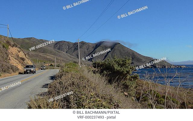 California USA famous road near Garrapata State Park with rugged coast Pacific Coast Highway