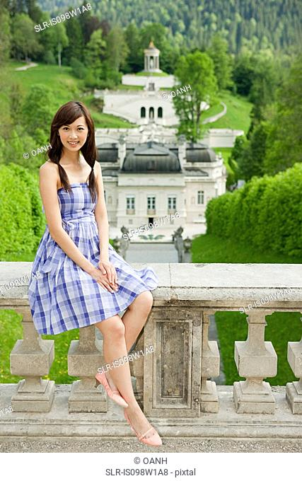 Woman at Linderhof Palace, Bavaria, Germany